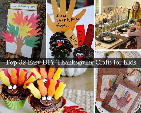 Top 32 Easy DIY Thanksgiving Crafts Kids Can Make Page 2