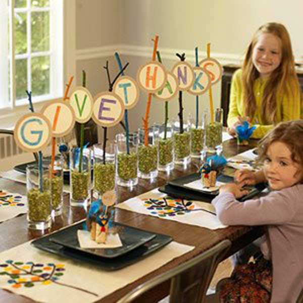 Top 32 easy diy thanksgiving crafts kids can make Simple thanksgiving table decorations
