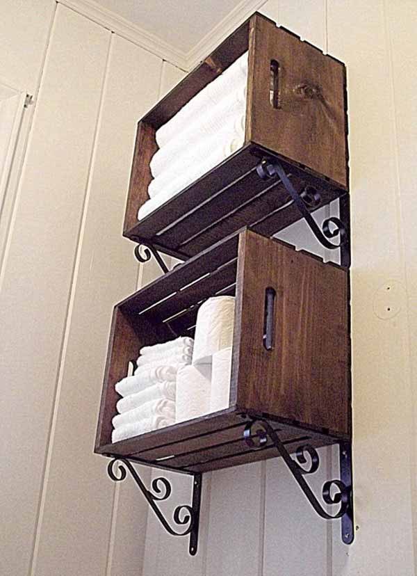 30 Brilliant DIY Bathroom Storage Ideas - Amazing DIY, Interior & Home Design