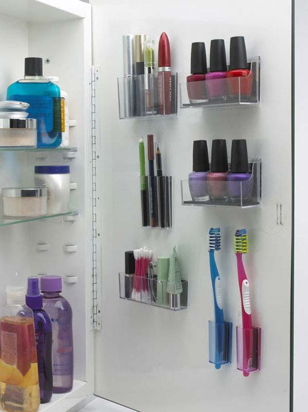 bathroom cabinet organizer ideas