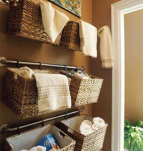 Small Bathroom Wall Storage 30 brilliant diy bathroom storage ideas