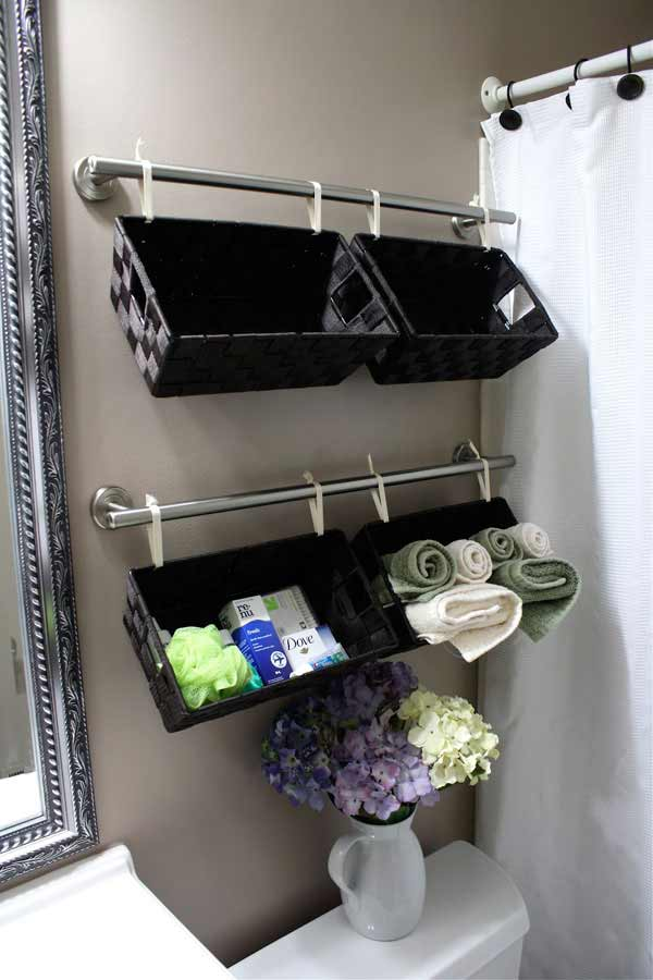 Homemade Bathroom Decorating Ideas 30 brilliant diy bathroom storage ideas