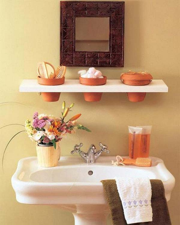 30 brilliant diy bathroom storage ideas amazing diy interior home design for Bathroom shelving ideas for small spaces