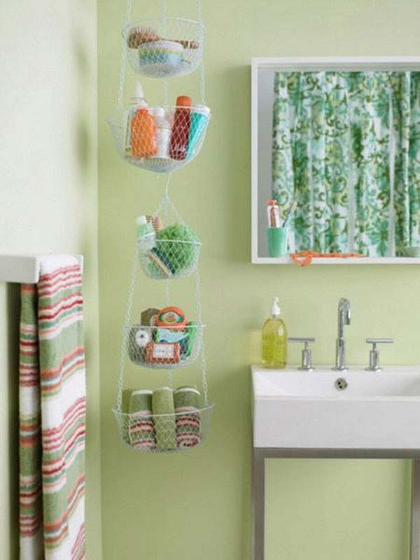 Wonderful Hanging Bathroom Storage Basket Ideas Bathroom Storage With Baskets
