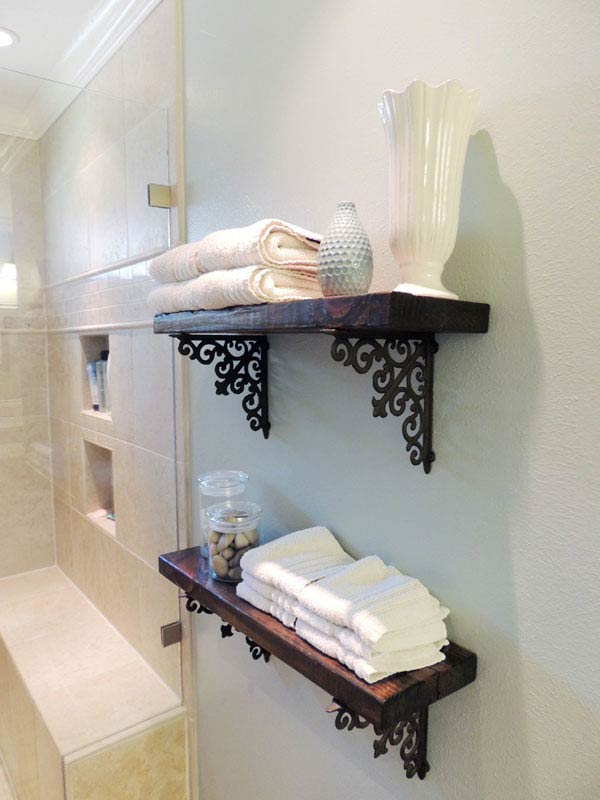 bathroom shelves decor. Diy-bathroom-storage-ideas-6 Bathroom Shelves Decor M