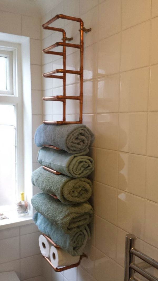 30 brilliant diy bathroom storage ideas amazing diy for Towel storage for bathroom ideas