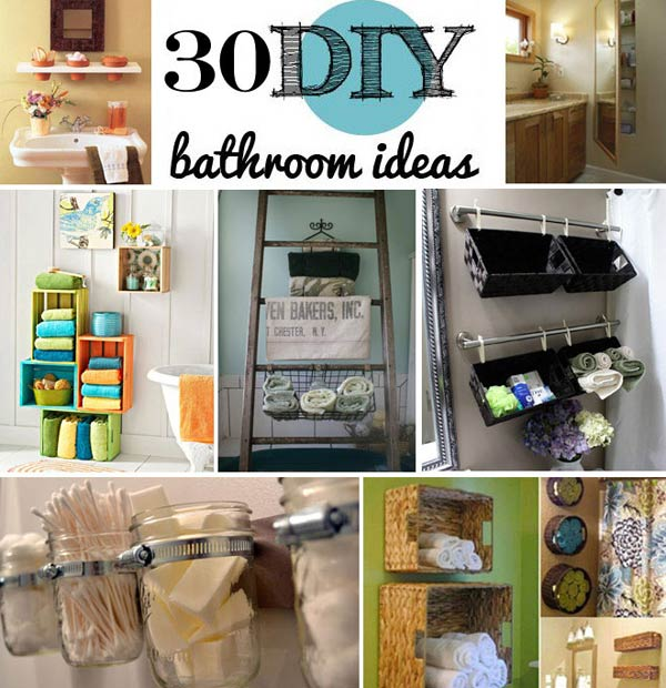 30 brilliant diy bathroom storage ideas - Bathroom Ideas Cheap
