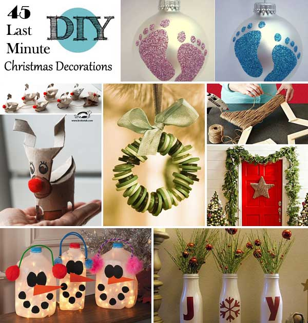 Christmas Diy Decorating Ideas: 45 Budget-Friendly Last Minute DIY Christmas Decorations
