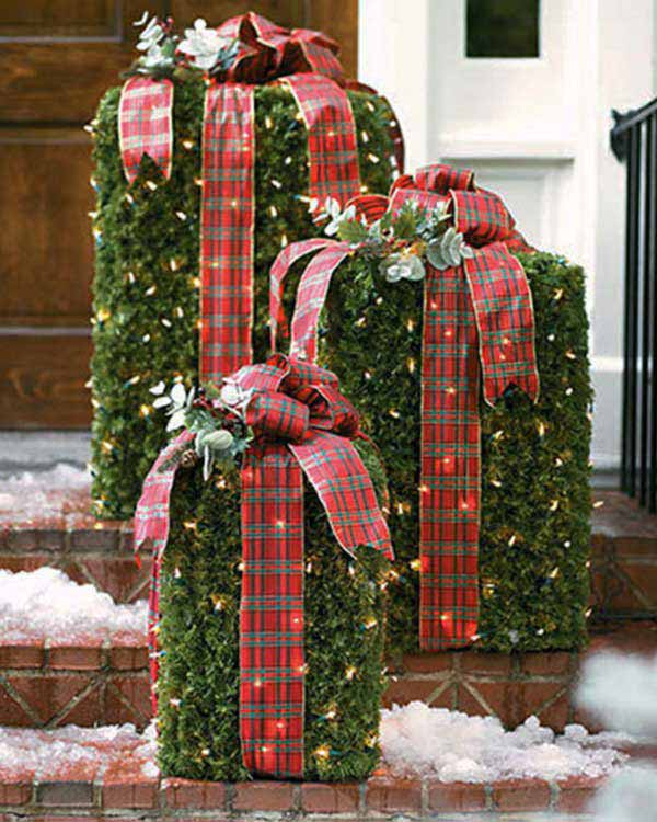 40 cool diy decorating ideas for christmas front porch Christmas decorating diy