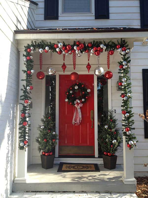 diy christmas porch ideas 10 - Christmas Porch Decor