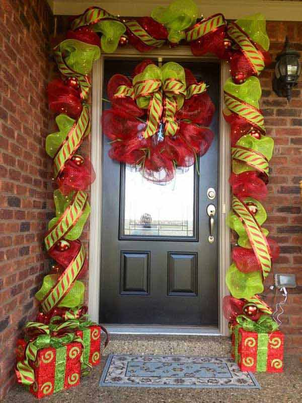 Diy Front Porch Christmas Decorating Ideas Photograph 40 C