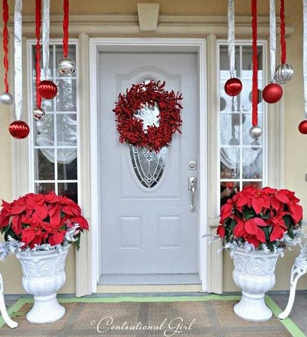 diy christmas porch ideas 29 - How To Decorate Your Door For Christmas