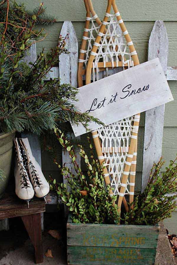 diy christmas porch ideas 36 - Country Christmas Decorations For Front Porch