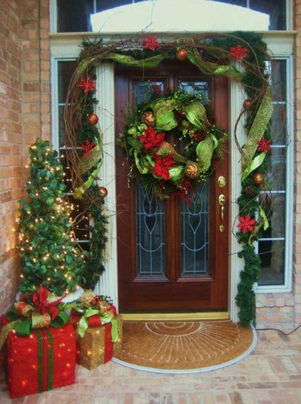 diy christmas porch ideas 37