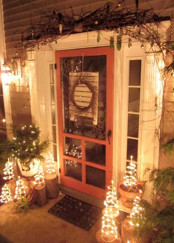 diy christmas porch ideas 39 - Country Christmas Decorations For Front Porch