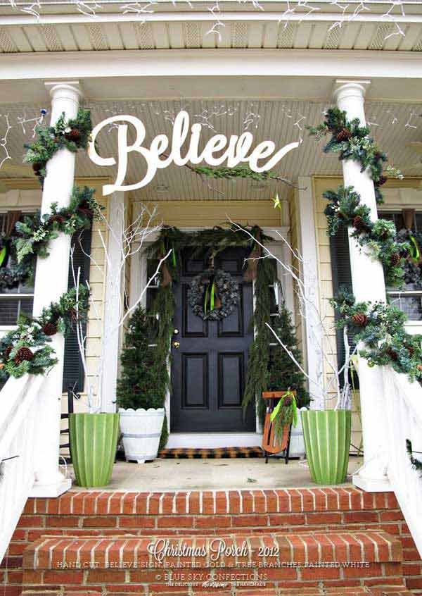 diy christmas porch ideas 9 - Porch Decorating Ideas Christmas