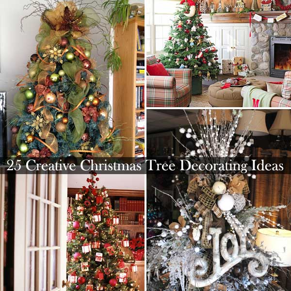 DIY-Christmas-Tree-decoration-Ideas-0 & 25 Creative and Beautiful Christmas Tree Decorating Ideas - Amazing ...