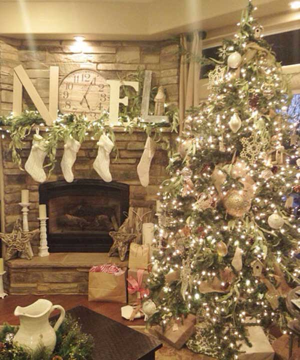 25 creative and beautiful christmas tree decorating ideas for Christmas interior house decorations