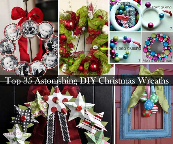 Top 35 Astonishing DIY Christmas Wreaths Ideas