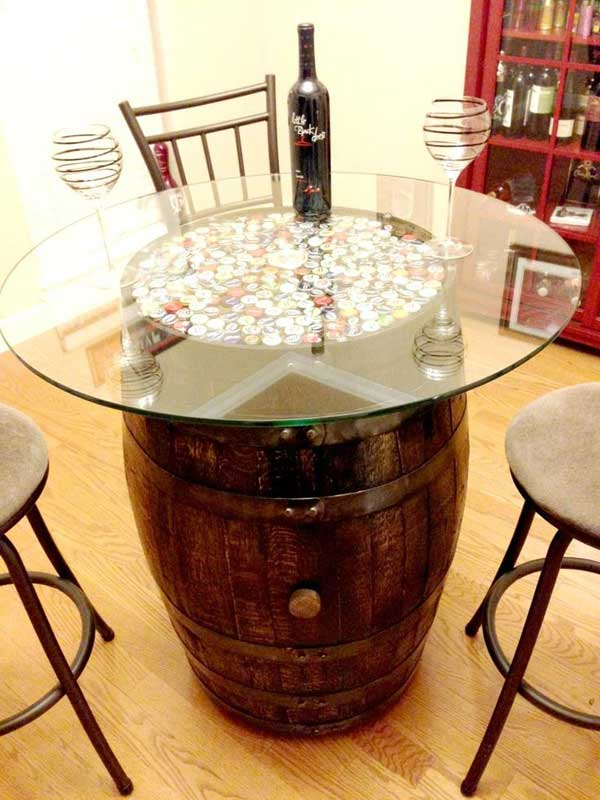 25 Brilliant Diy Ways Of Reusing Old Wine Barrels together with Silhouettes Meet Melted Crayons also Double Bedroom Doors likewise 456792 Living Room Pc Part 2 Keyboard And Mouse Problem together with 205621662. on diy table and chairs