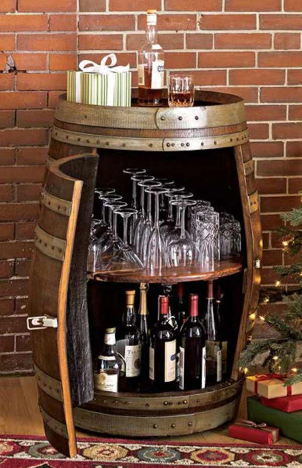 25 brilliant diy ways of reusing old wine barrels for How to build a mini bar at home