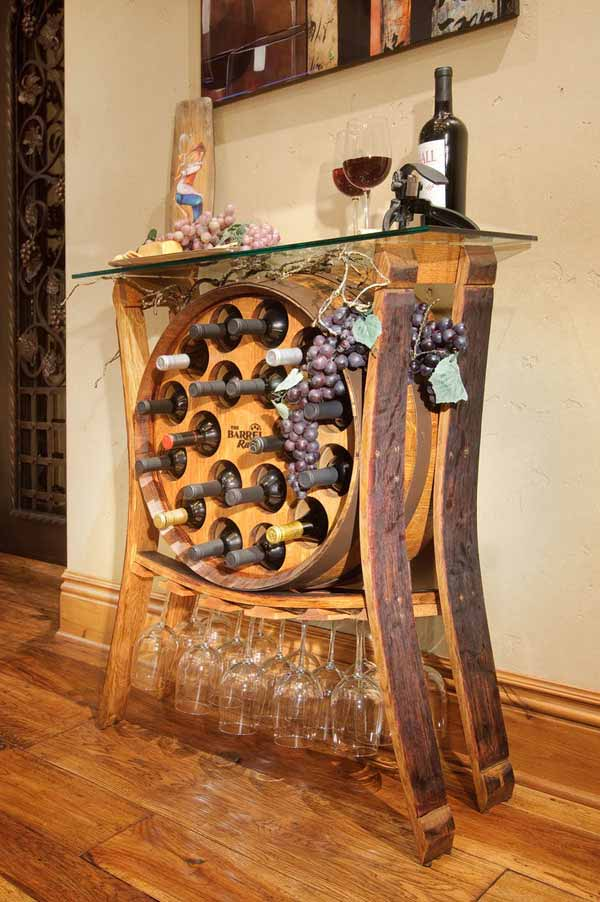 25 brilliant diy ways of reusing old wine barrels amazing diy interior home design. Black Bedroom Furniture Sets. Home Design Ideas