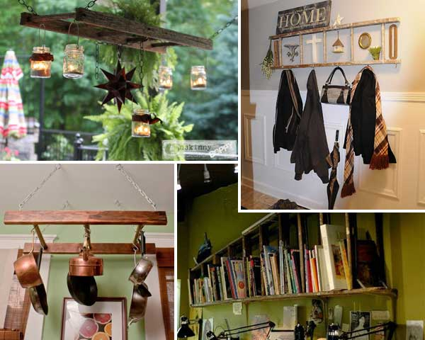 Top 38 Creative Ways to Repurpose and Reuse Vintage Ladders ...