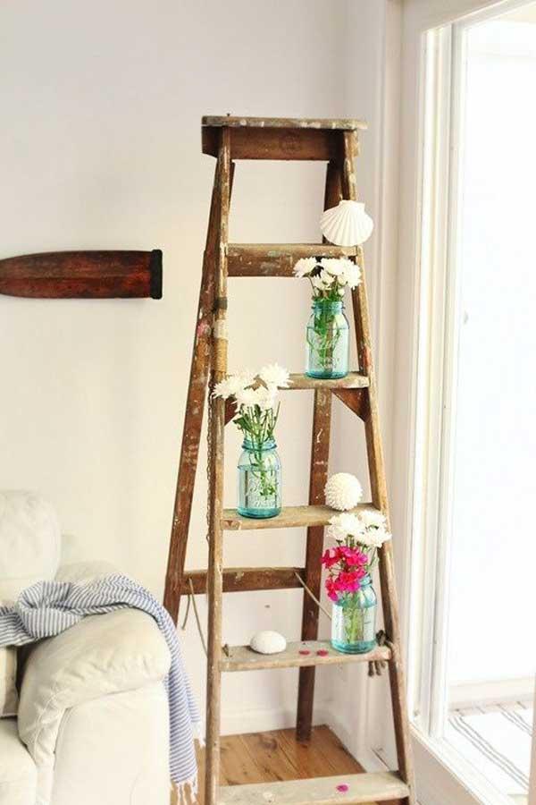 Diy Ways To Reuse An Old Ladder 35