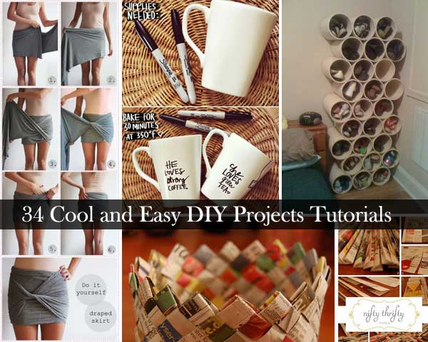 34 insanely cool and easy diy project tutorials amazing for Diy crafts with things around the house