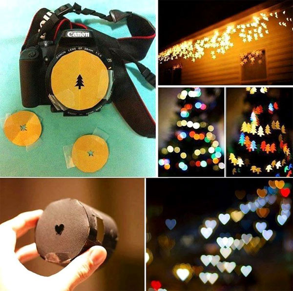 Easy DIY Bokeh Shaped Camera Lens Cover