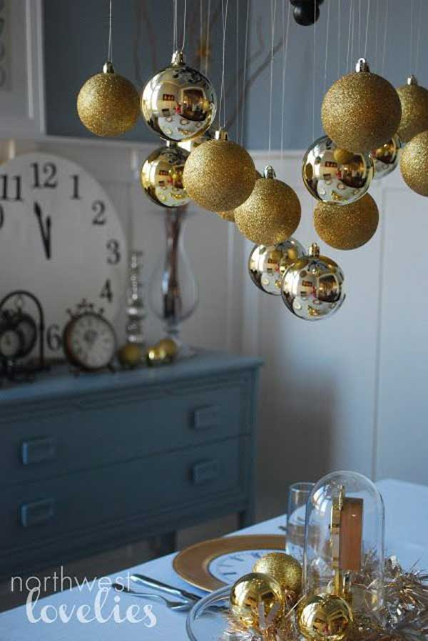 Top 32 sparkling diy decoration ideas for new years eve for Decoration new year
