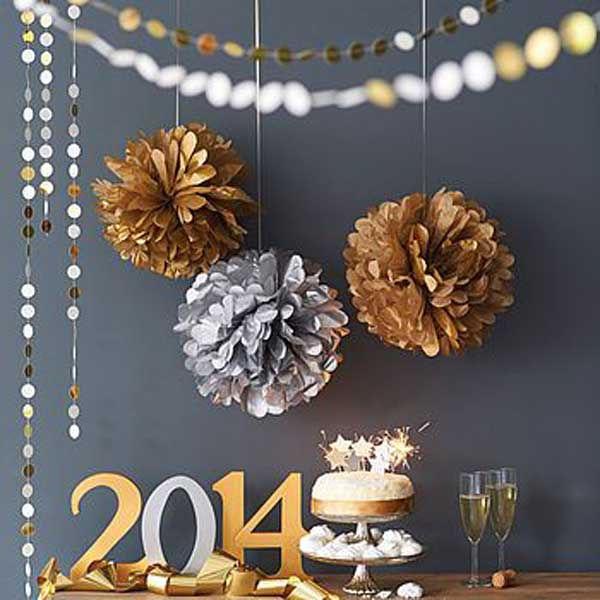 Wonderful New Year Home Decoration Ideas Part - 10: Diy-new-year-eve-decorations-39-2