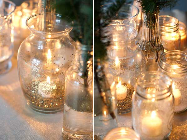 decoração de ano novo com vela