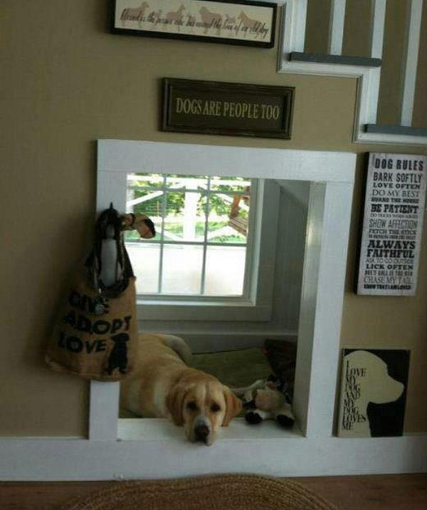 Indoor-Doggy-House-Under-The-Stairs