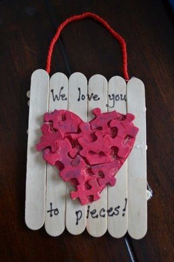 Valentines Day Craft Ideas For Kids Part - 17: Valentineu0027s-day-crafts-for-kid-27