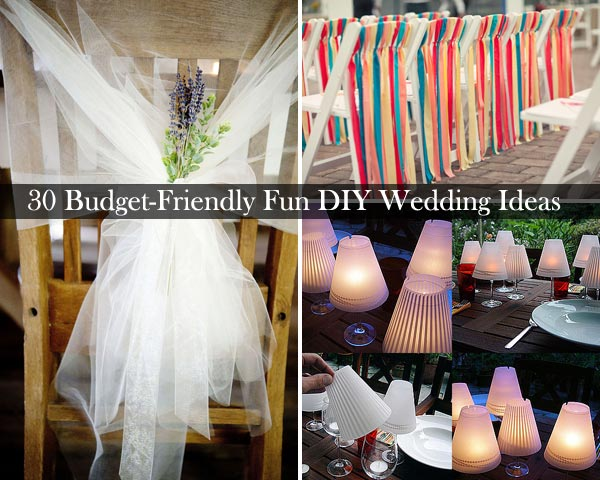 30 budget friendly fun and quirky diy wedding ideas - Wedding Decorations On A Budget