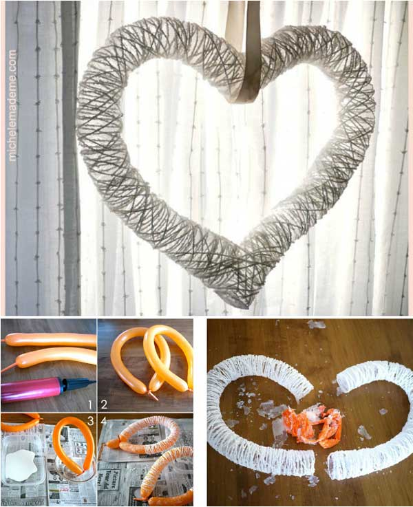 Top 35 easy heart shaped diy crafts for valentines day for Heart decorations for the home