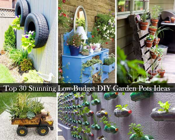 DIY Garden Pots 0. Top 30 Stunning Low Budget DIY Garden Pots and Containers
