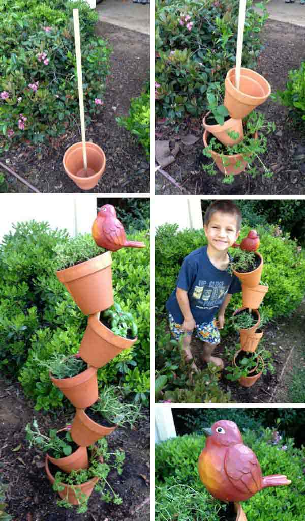 Herb Garden Planter Ideas Part - 33: DIY-Garden-Pots-5