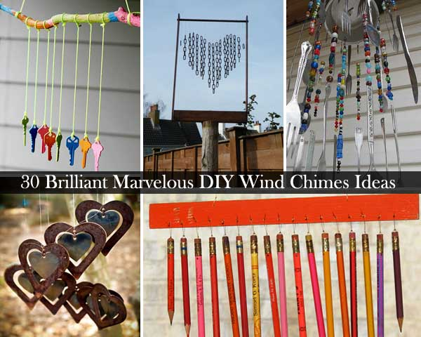 30 brilliant marvelous diy wind chimes ideas for Wind chime design ideas