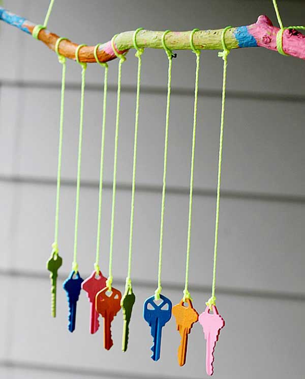 Creative recycling ideas for your garden art craft gift ideas - 30 Brilliant Marvelous Diy Wind Chimes Ideas
