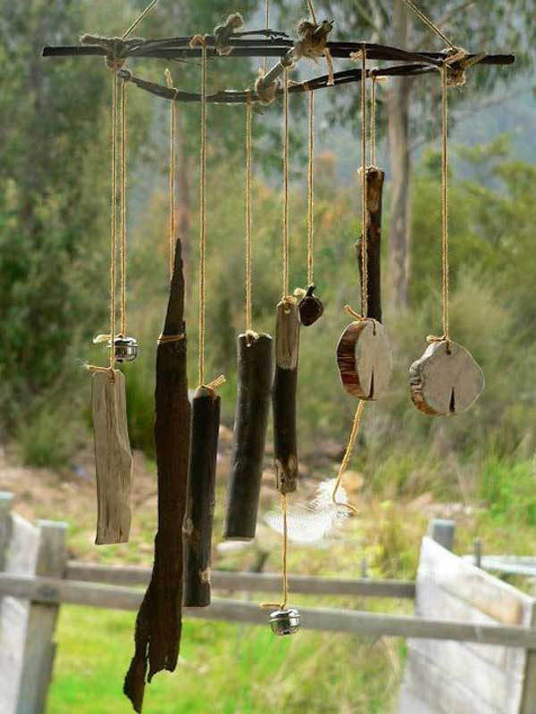 Pictures of homemade wind chimes