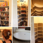 DIY Lazy-Susan Disks for Messy Pantry