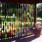 Interesting Fence Of Recycled Glass Bottles