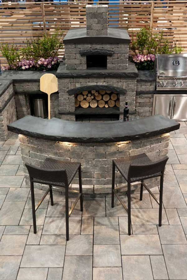 Outdoor kitchen ideas let you enjoy your spare time for Outdoor kitchen bar plans
