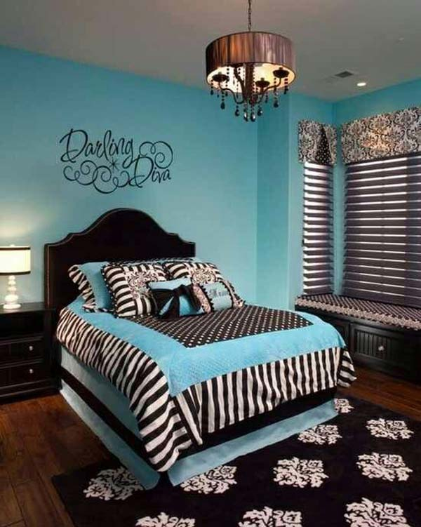 30 fascinating bedroom ideas amazing diy interior for Black and white rooms for teens