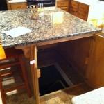 Kitchen Island Hidden Bunker Entrance