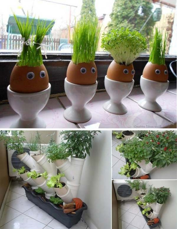 26 mini indoor garden ideas to green your home amazing for Indoor vegetable gardening tips