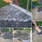 Concrete Cobblestone Path for Your Backyard