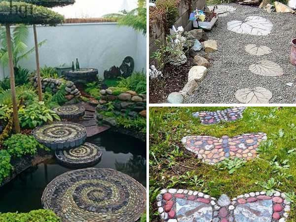23 diy stepping stones to brighten any garden walk - Yard stepping stone ideas ...